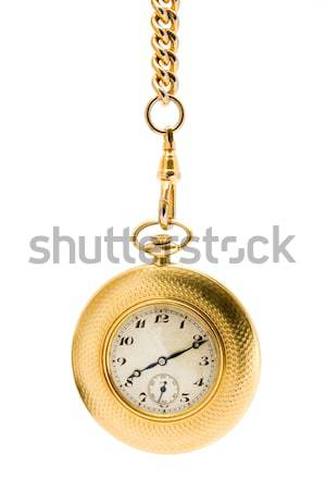 Gold Pocket watch on a chain Stock photo © lucielang
