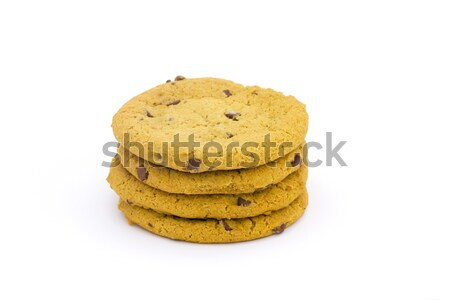 Chocolade chip cookies witte voedsel Stockfoto © lucielang