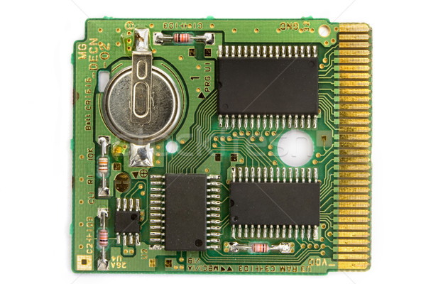 Microchip bianco oro dati tech filo Foto d'archivio © lucielang