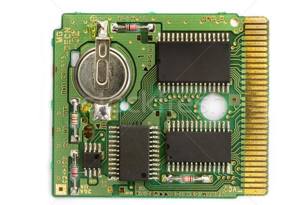 Microchip branco ouro dados tecnologia arame Foto stock © lucielang