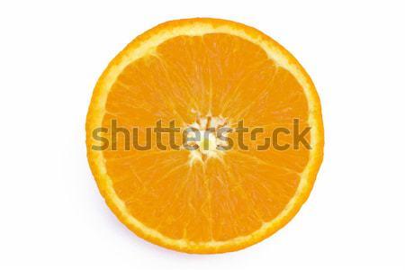 Rodaja de naranja frutas naranja energía color brillante Foto stock © lucielang