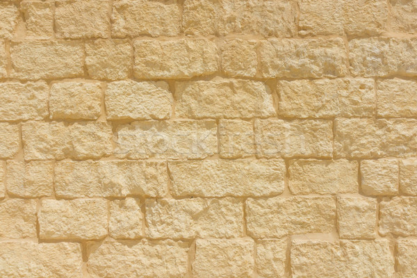 Sandstone brick wall background Stock photo © lucielang