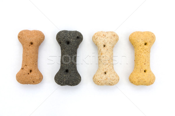 Stockfoto: Lijn · bot · hond · biscuits · witte