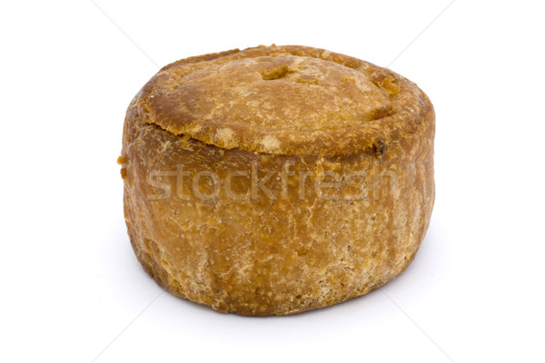 Small pork pie isolated on white  Stock photo © lucielang