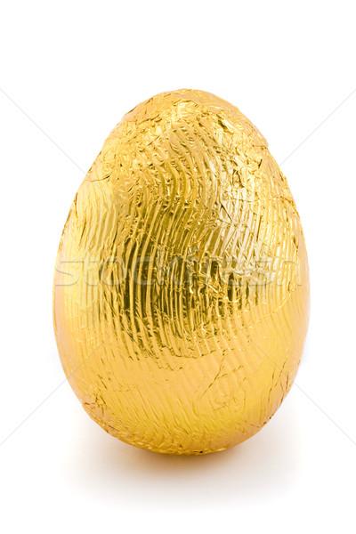 Goud easter egg geïsoleerd witte voorjaar voedsel Stockfoto © lucielang