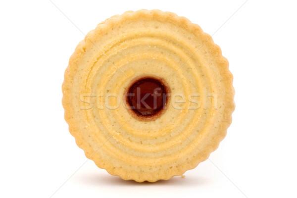 Jam печенье белый кремом Sweet макроса Сток-фото © lucielang