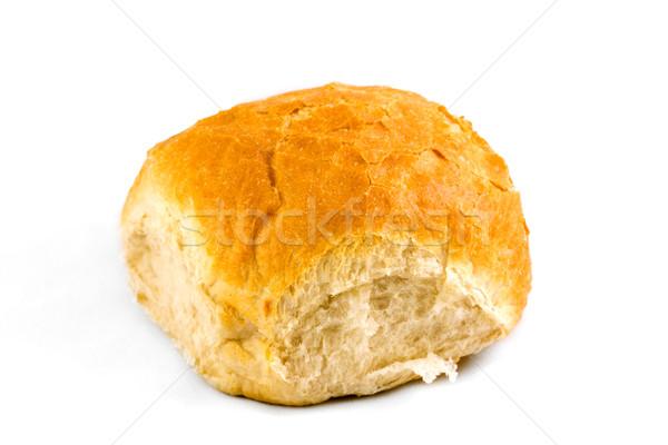 Fehér kenyér zsemle fehér otthon reggeli friss Stock fotó © lucielang