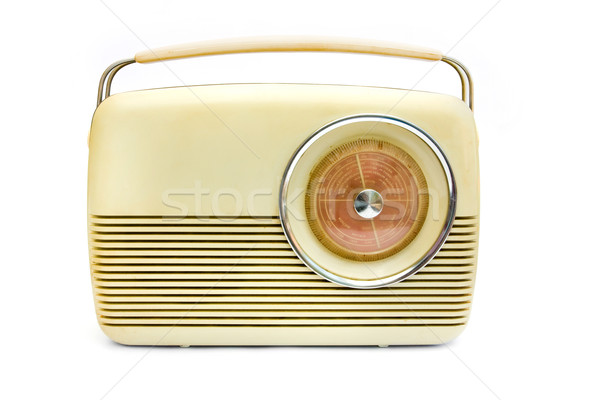 Retro cream radio over white Stock photo © lucielang