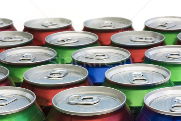 Background of drinks can ring pull tops stock photo © Lucie Lang