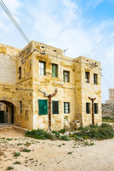 Abandonado edifício mediterrânico casa parede casa Foto stock © lucielang