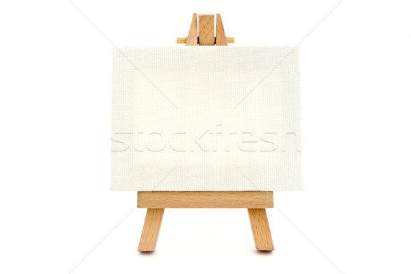 Small easel with a blank canvas  Stock photo © lucielang