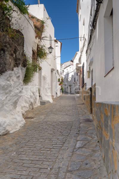 традиционный испанский улице небольшой горные деревне Сток-фото © lucielang