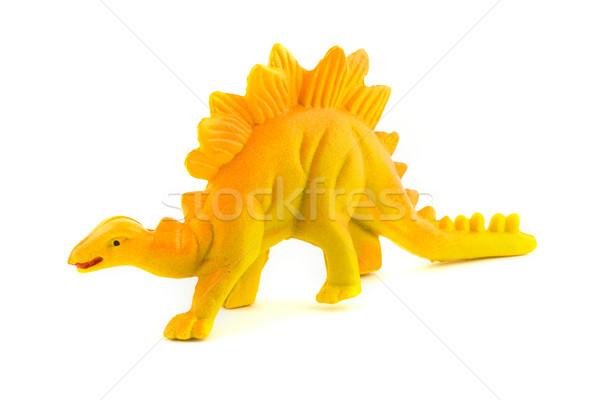Speelgoed plastic dinosaurus witte dier Stockfoto © lucielang