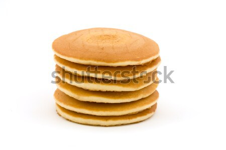 Stack of fluffy pancakes over white Stock photo © lucielang