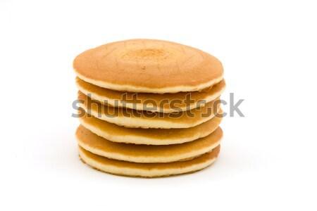 Pluizig pannenkoeken witte voedsel achtergrond Stockfoto © lucielang