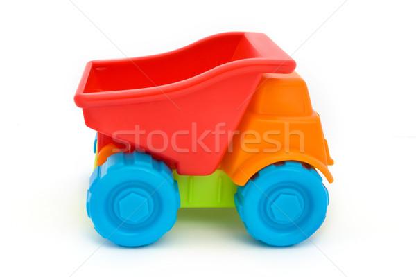 красочный пластиковых игрушку грузовика белый модель Сток-фото © lucielang