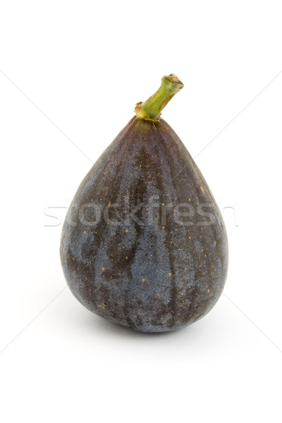 Single ripe fig over white Stock photo © lucielang
