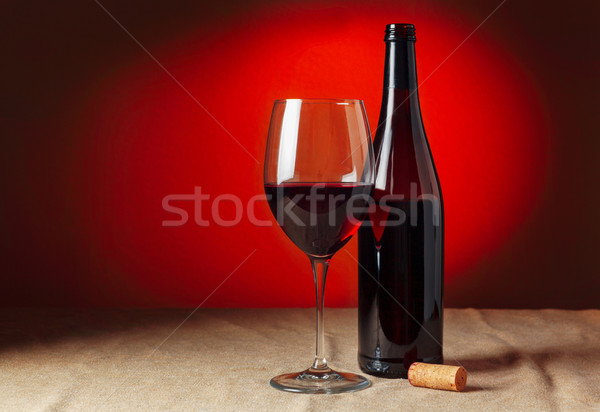 şişe cam ahşap restoran Stok fotoğraf © luckyraccoon