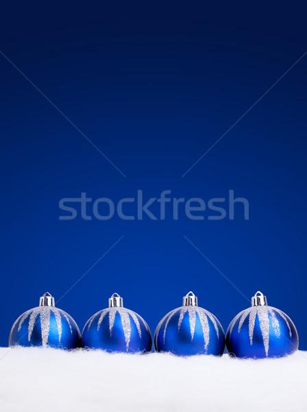 Mavi Noel karanlık bo Stok fotoğraf © luckyraccoon