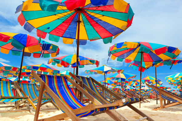 Paraguas playa isla Tailandia sol Foto stock © luckyraccoon