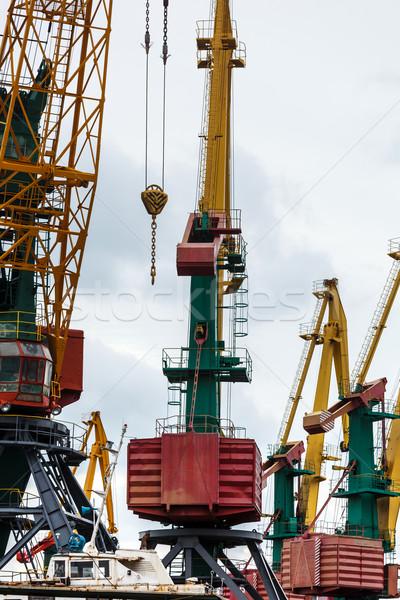 Nagy ipari állvány teher munka forgalom Stock fotó © luckyraccoon