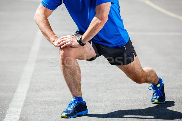 Stok fotoğraf: Erkek · koşucu · antreman · spor · vücut