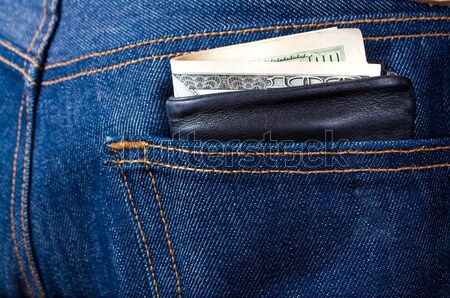wallet sticking out of pocket Stock photo © luckyraccoon