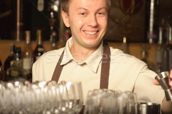 A barman at work  Stock photo © luckyraccoon