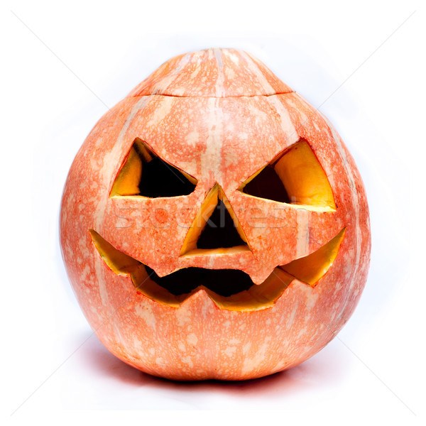 haloween pumpkin isolated over white Stock photo © luckyraccoon