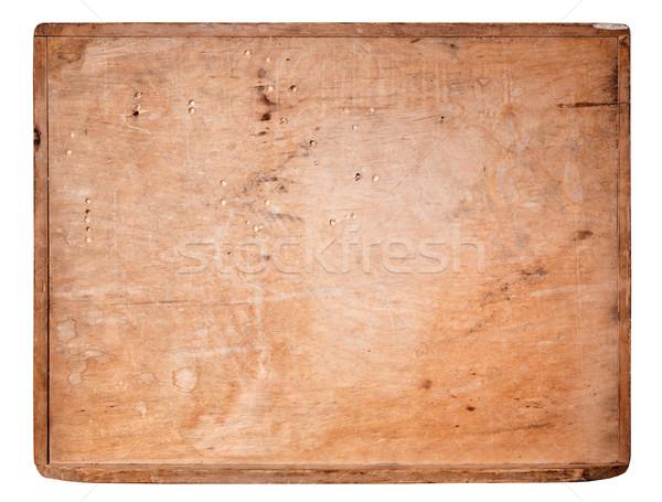 古い 木板 孤立した 白 テクスチャ にログイン ストックフォト © luckyraccoon