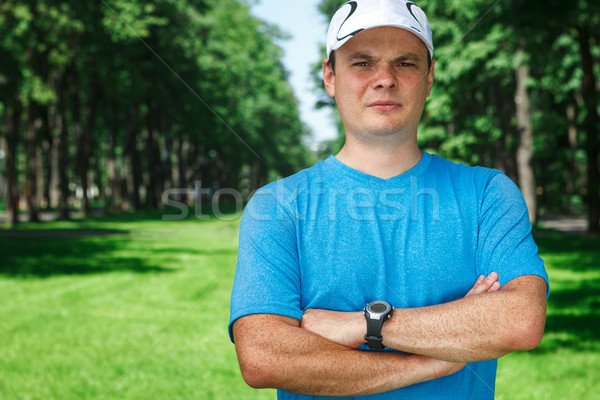 Fitness instructor outdoor portrait. Stock photo © luckyraccoon