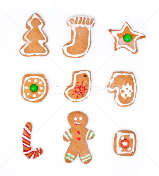 Рождества печенье Cookies продовольствие улыбка человека Сток-фото © luckyraccoon