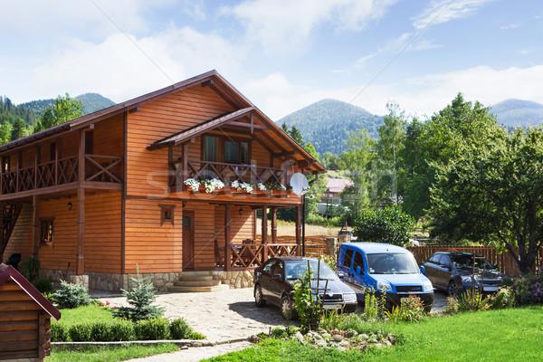 Hotel in Carpatian Mountains. Ukraine. Stock photo © luckyraccoon