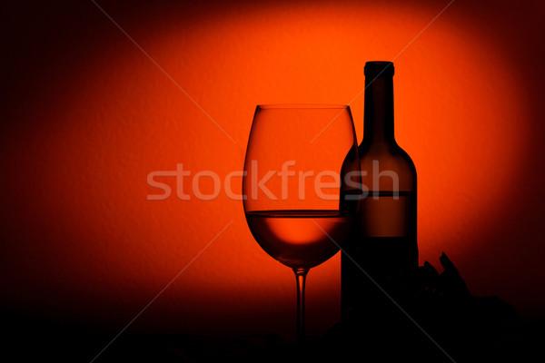 ボトル ガラス ワインボトル ワイン 木材 ストックフォト © luckyraccoon