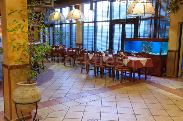 Ristorante italiano tradizionale interni luce vetro ristorante Foto d'archivio © luckyraccoon
