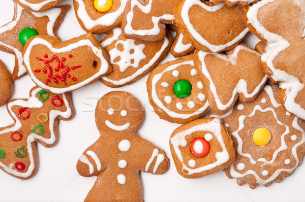 домашний Рождества Cookies вечеринка счастливым жира Сток-фото © luckyraccoon