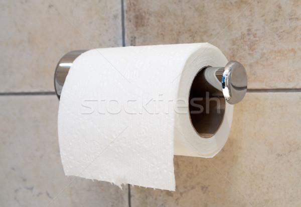 Carta igienica bagno interni piano acciaio pulizia Foto d'archivio © luckyraccoon