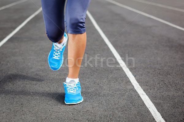 Runner voeten stadion lopen outdoor Stockfoto © luckyraccoon