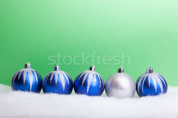 Niebieski christmas kopia przestrzeń yo Zdjęcia stock © luckyraccoon