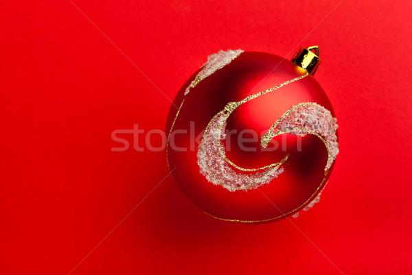 クローズアップ 赤 ボール 無料 スペース 雪 ストックフォト © luckyraccoon