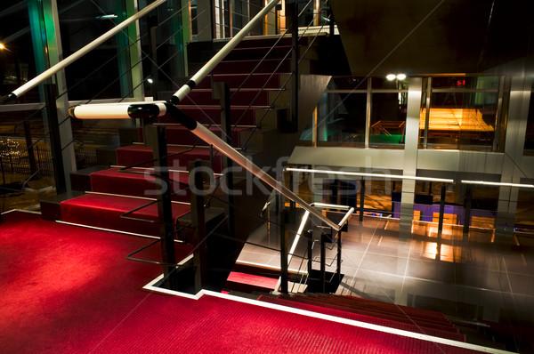 Staircase at five star art hotel Stock photo © luckyraccoon