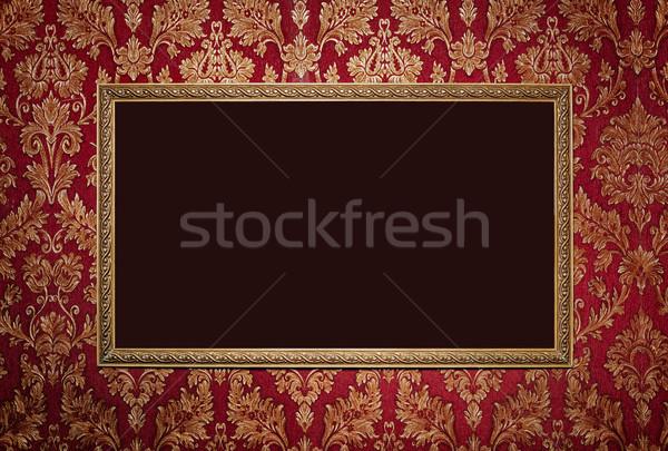 Red retro interior with empty exposition  Stock photo © luckyraccoon