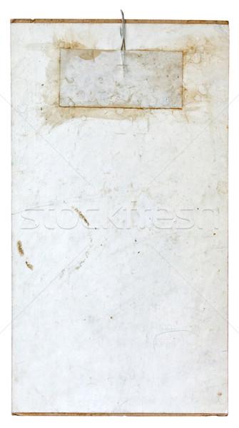 Kullanılmış kâğıt beyaz iş arka plan Stok fotoğraf © luckyraccoon