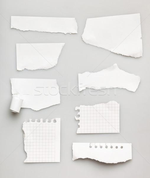 Coleção branco peças papel escritório fundo Foto stock © luckyraccoon