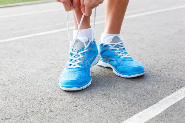 Primer plano deportes zapato carretera fitness Foto stock © luckyraccoon