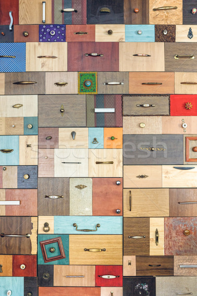 Various little colorful drawers - interior detail. Stock photo © luckyraccoon