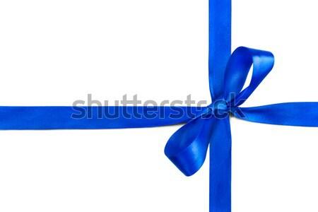 Azul cinta arco aislado blanco feliz Foto stock © luckyraccoon