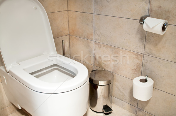 Tuvalet kâğıt kadın erkekler oda otel Stok fotoğraf © luckyraccoon