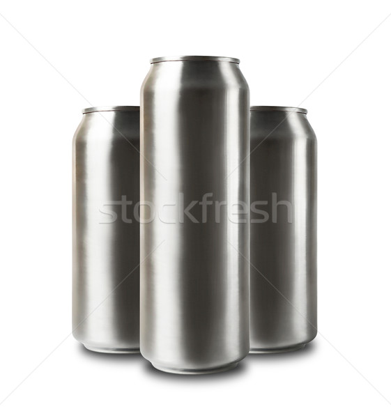 Aluminum cans isolated on white. Stock photo © luckyraccoon
