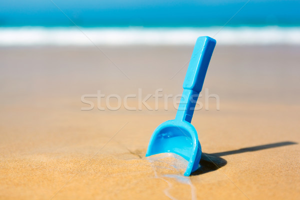 Small shovel in the sand on the beach Stock photo © luckyraccoon